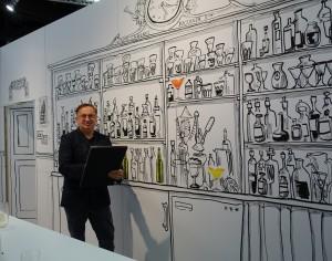 Karikaturist und Schnellzeichner Sascha
